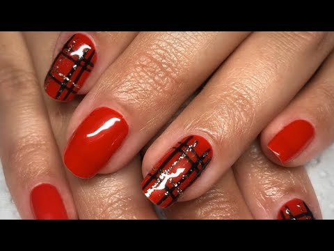 Gel Polish Tartan Nail Art Tutorial thumbnail