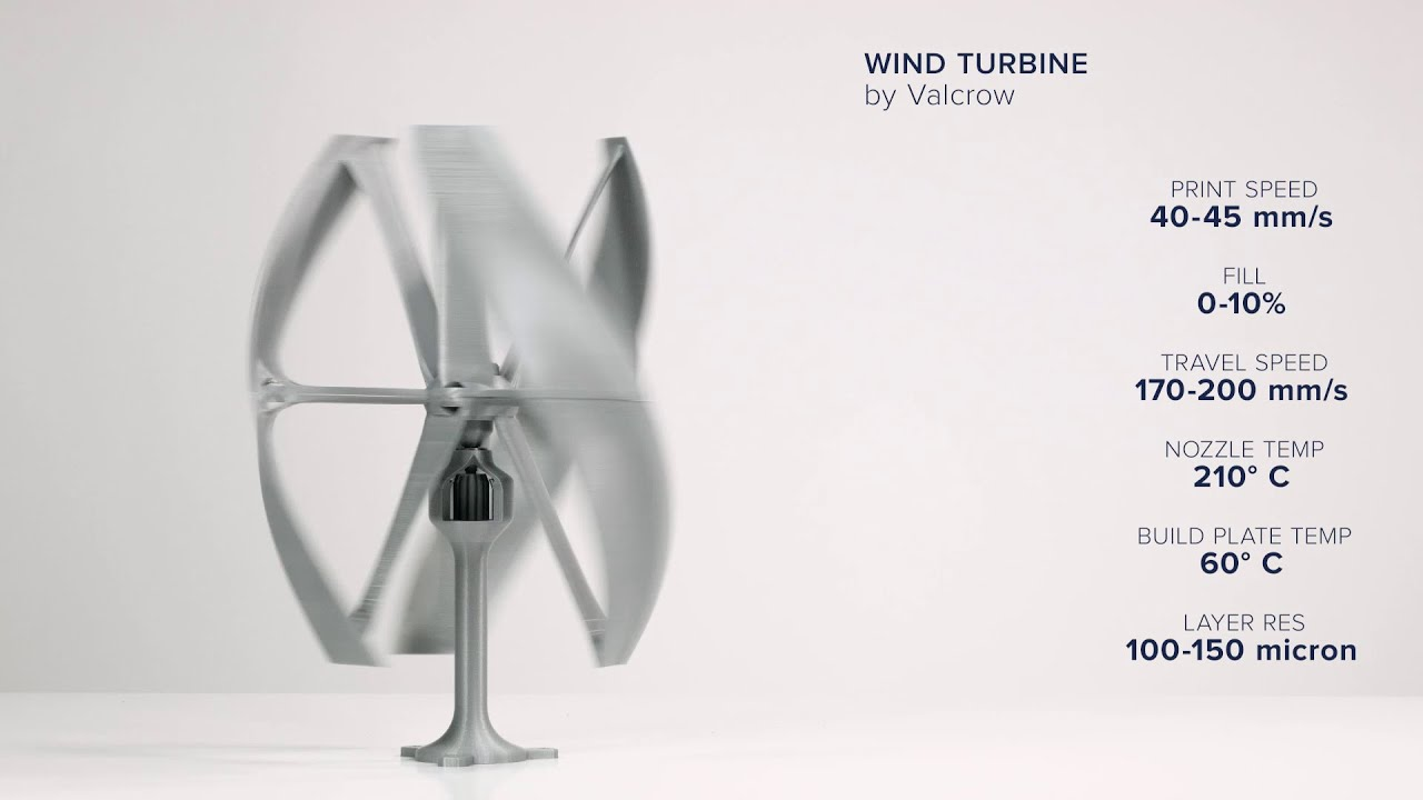 How to 3D print the Vertical Axis Wind Turbine | Ultimaker