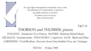 THORSON and THURBER, pianos    Live 18 July 1989  TIVOLI