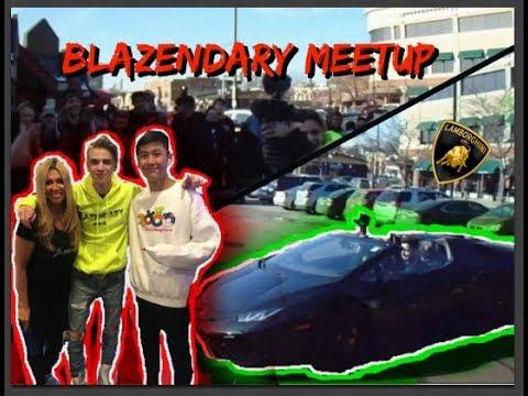 Blazendary Kicks Meetup! *Shows up in a Lamborghini*