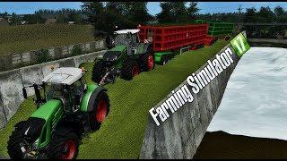 Holowanie na silosie AMERYKAŃSKIEGO zestawu! S4E25   Farming Simulator 17