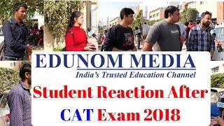 Student Reaction After CAT Exam 2018