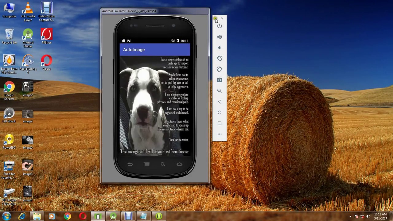 how to add swipe gesture in android studio