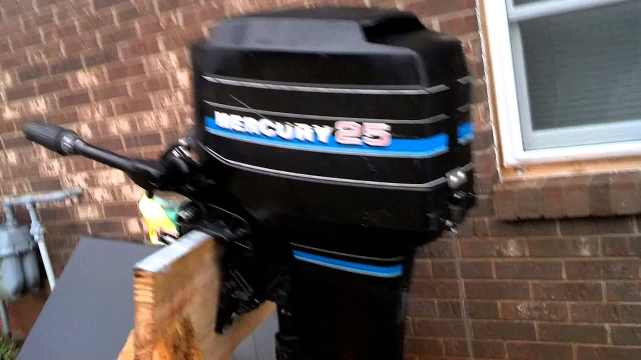 1983 Mercury Outboard Motor 25 Hp For Sale On Ebay Youtube