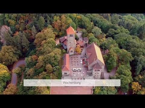 Die Burgen Windeck und Wachenburg in Weinheim mit DJI Spark