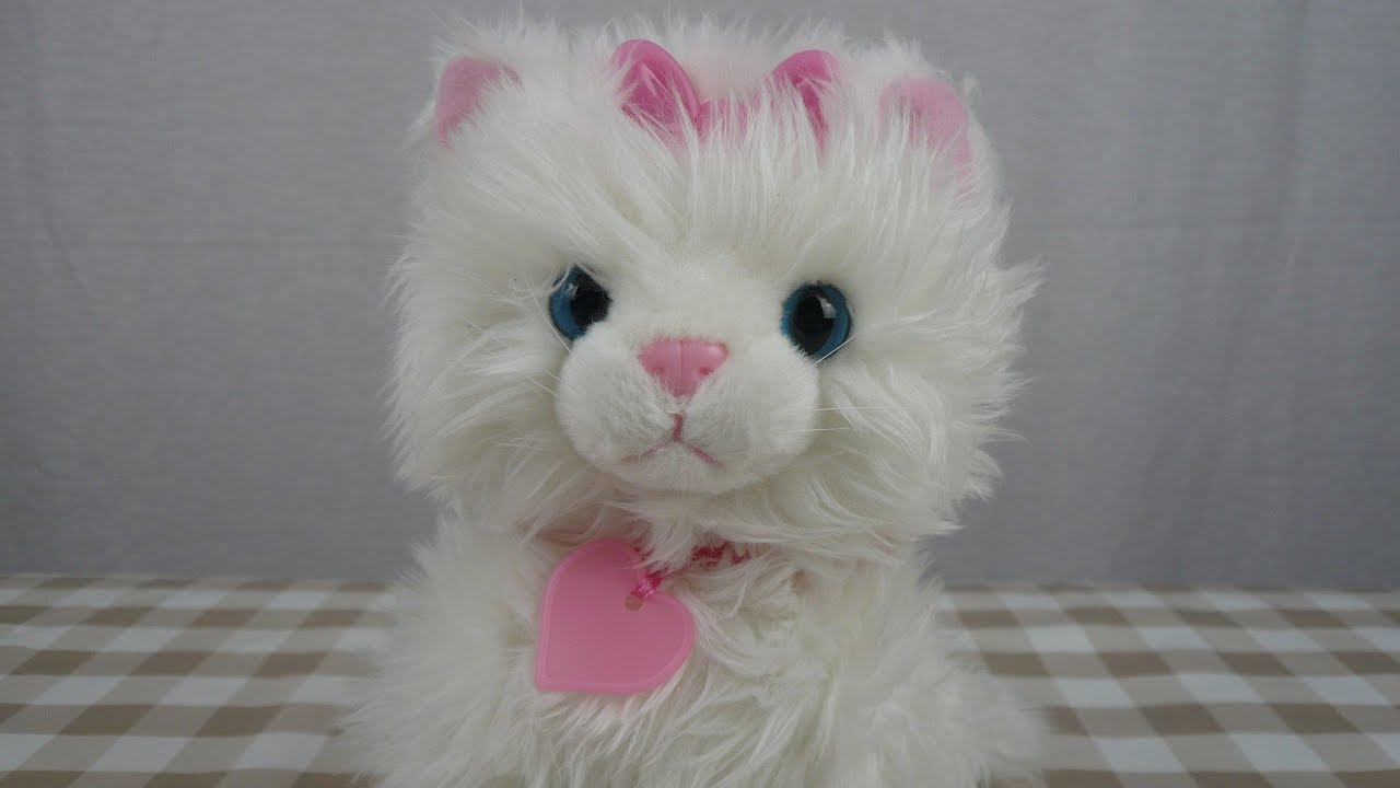 Animagic Sparkle My Glowing Kitty Plush Interactive Kitten Lights Up And Makes Sounds Youtube