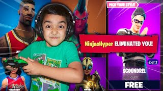 1 DEATH = 10 *NEW* SKINS CHALLENGE WITH MY 5 YEAR OLD LITTLE BROTHER! | KID WINS NEW FORTNITE SKINS