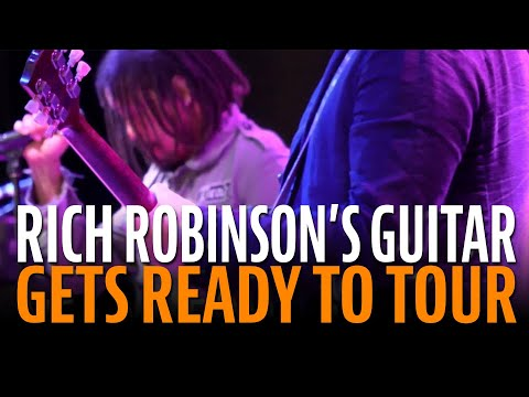 Getting Rich Robinson's Gibson ready for a tour