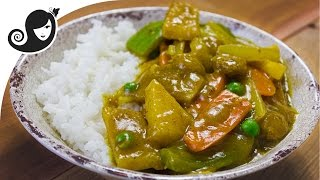 Chinese Vegetable Curry with Jicama and Soya Chunks
