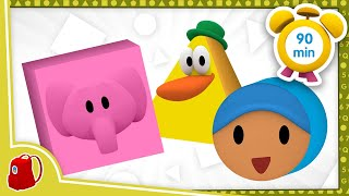 ???? POCOYO in ENGLISH -  Learn Geometric Shapes [90 min] Full Episodes | VIDEOS and CARTOONS for KIDS