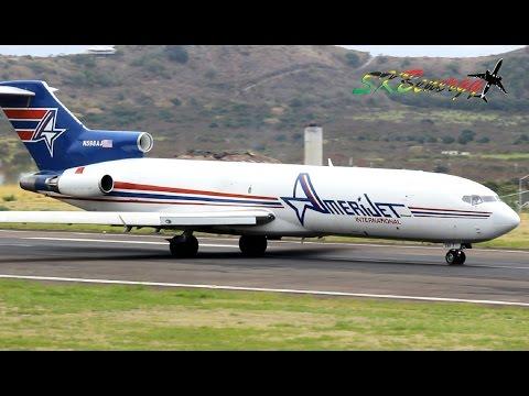 727,737,777,ATR 42,Fairchild Metro III action @ St. Kitts (HD 1080p)