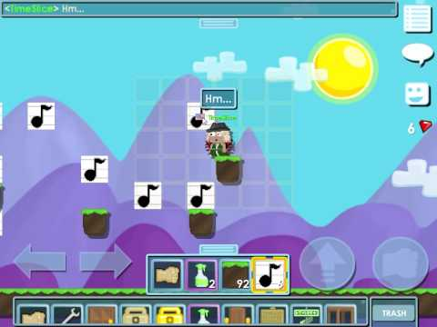 GrowTopia How to make a easy song (Whistle)