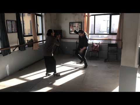 Alfonso Losa And Illeana Gomez Rehearsing For PRENDIDOS