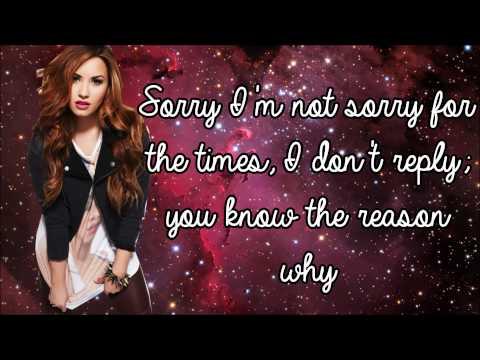 Demi Lovato - Shouldn't Come Back (Lyrics + Pictures)