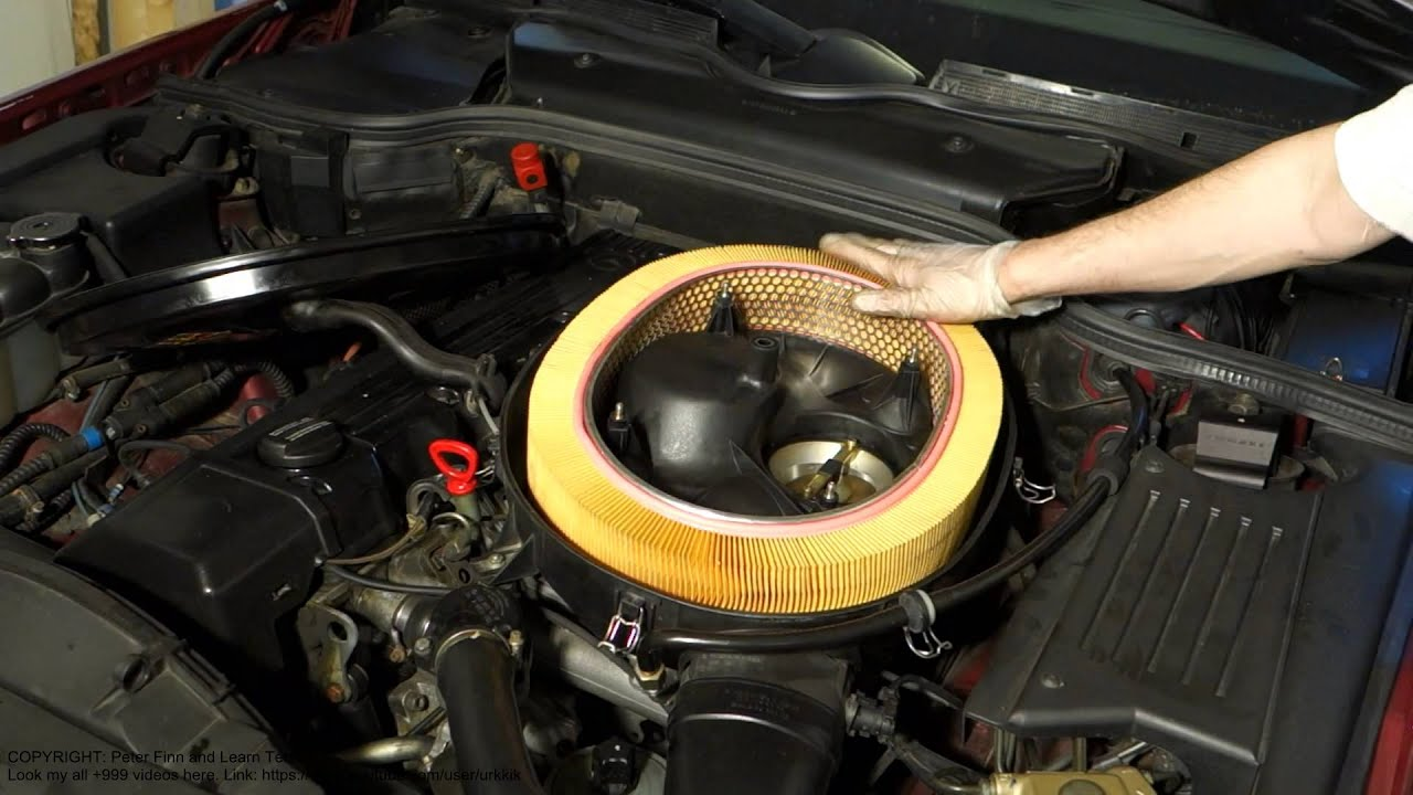 How to replace air filter mercedes benz e class years for Mercedes benz e350 air filter replacement