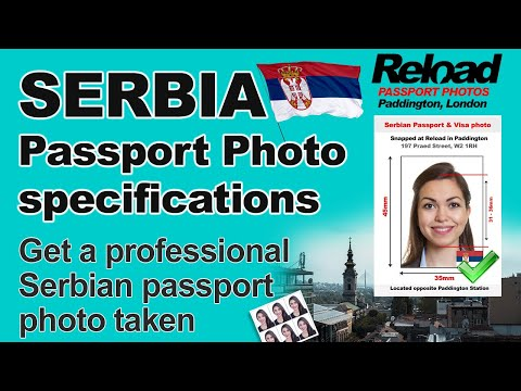 Serbian Passport Photo specifications and Visa Photos requirements for Serbia