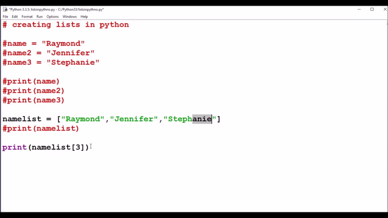 7th Day Of Christmas   List In Python / Arrays  Christmas List Format