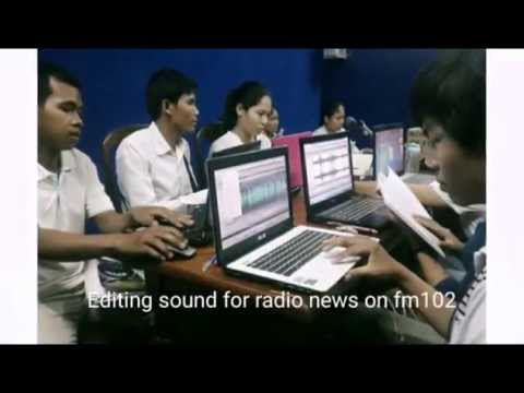 Volunteer for radio journalists on Women's Radio FM 102 Phnom Penh
