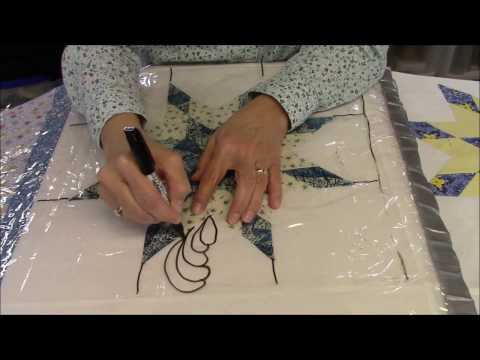 Designing Feathers in a Bethlehem Star Quilt - Part 3