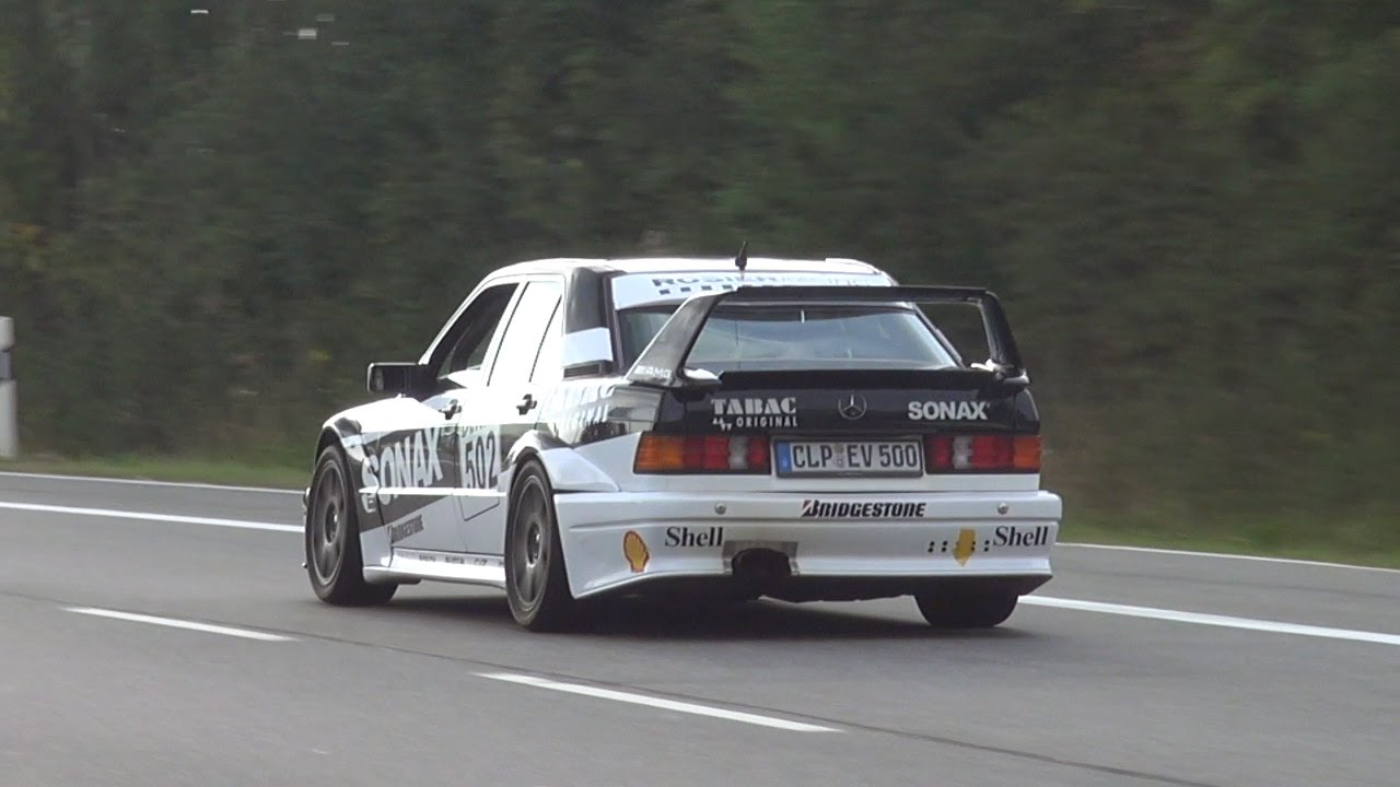 mercedes-benz 190e 2.5 16v evo ii - in action on the nürburgring