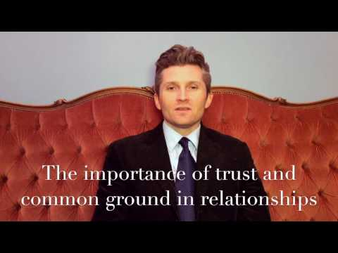 The importance of trust and common ground in relationships - A Guide to a Good Life