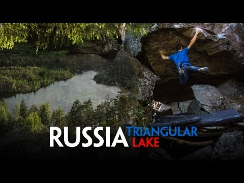 Bouldering in Russia - Triangular Lake