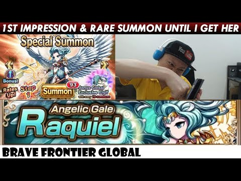 Angelic Gale Raquiel - 1st Impression Review & Rare Summon Until I Get Her (Brave Frontier Global)
