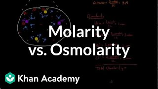 Molarity vs. osmolarity | Lab values and concentrations | Health & Medicine | Khan Academy