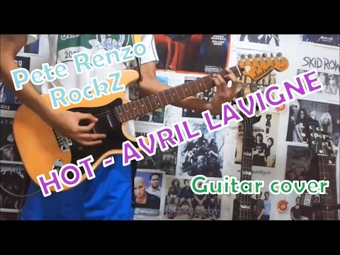 Hot Avril Lavigneguitar Coverwith Chords And Tab Youtube