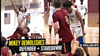 Mikey Williams DEMOLISHES Defender & Stares Him DOWN!! Ysidro Game Goes DOWN To The Wire!