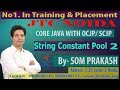 String Object Creation and String constant pool in java  video by som sir part-2