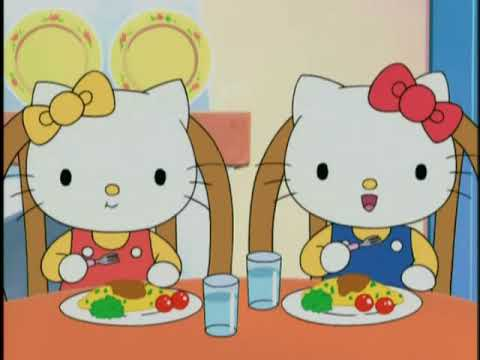 eating our vegetables hello kitty youtube. Black Bedroom Furniture Sets. Home Design Ideas