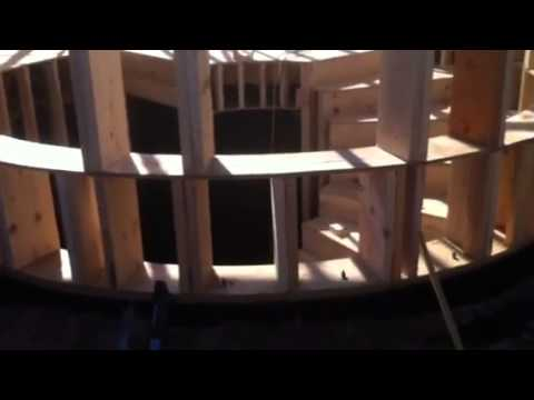 Round wall and stairs build - YouTube