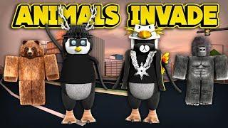 ¡LOS ANIMALES INVADEN JAILBREAK! (ROBLOX Jailbreak)