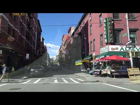 Driving by Little Italy in Manhattan,New York