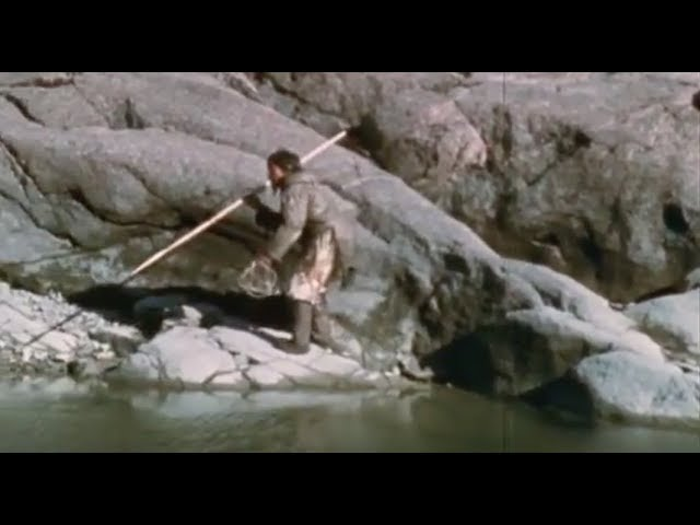 Tuktu- 9-  The Magic Spear (Amazing Inuit skills at fishing and hunting by spear) #1