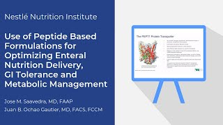NNI Use of Peptide based Formulations For Optimizing Enteral Nutrition Delivery, GI Tolerance, and M