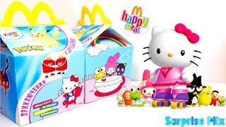 ХЕЛЛОУ КІТТІ і ДРУЗІ Іграшки ХЕППІ МІЛ Макдоналдс! HELLO KITTY mcdonald's Happy Meal TOYS Unboxing