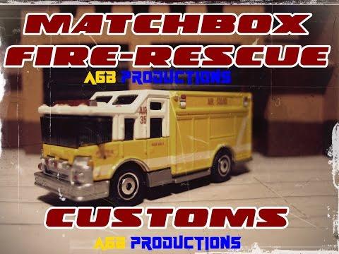 Matchbox Fire Customs: Pierce Dash, Rescue Squad, Boley Engines