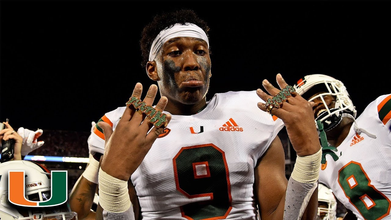 buy popular ea571 f3cbe Miami's Brevin Jordan Scores And Gets Touchdown Ring