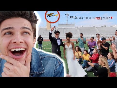 I HELPED A FAN ASK HER CELEBRITY CRUSH TO PROM (SURPRISE) |  Brent Rivera