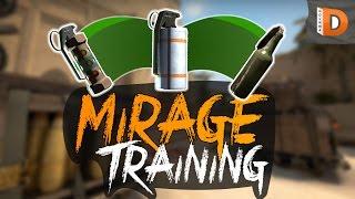Mirage Training, 28 smoke, 9 flash and 6 molotov spots