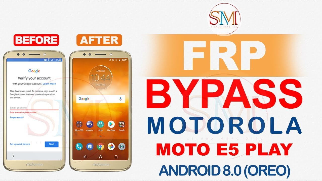 MOTO E5 PLAY FRP BYPASS GOOGLE ACCOUNT ANDROID 8 0 0