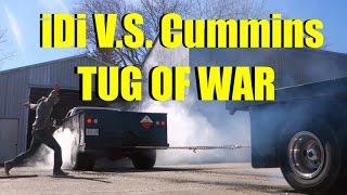 DODGE Cummins VS FORD iDi - TUG OF WAR!