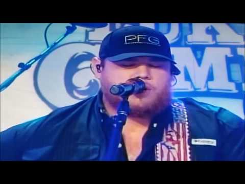 LUKE COMBS live performance  When it rains it pours! Another classic country hit!