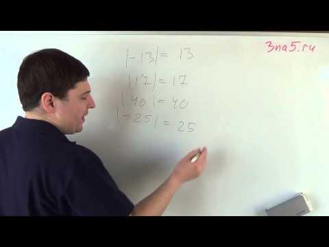 Модуль числа. Математика 6 класс.