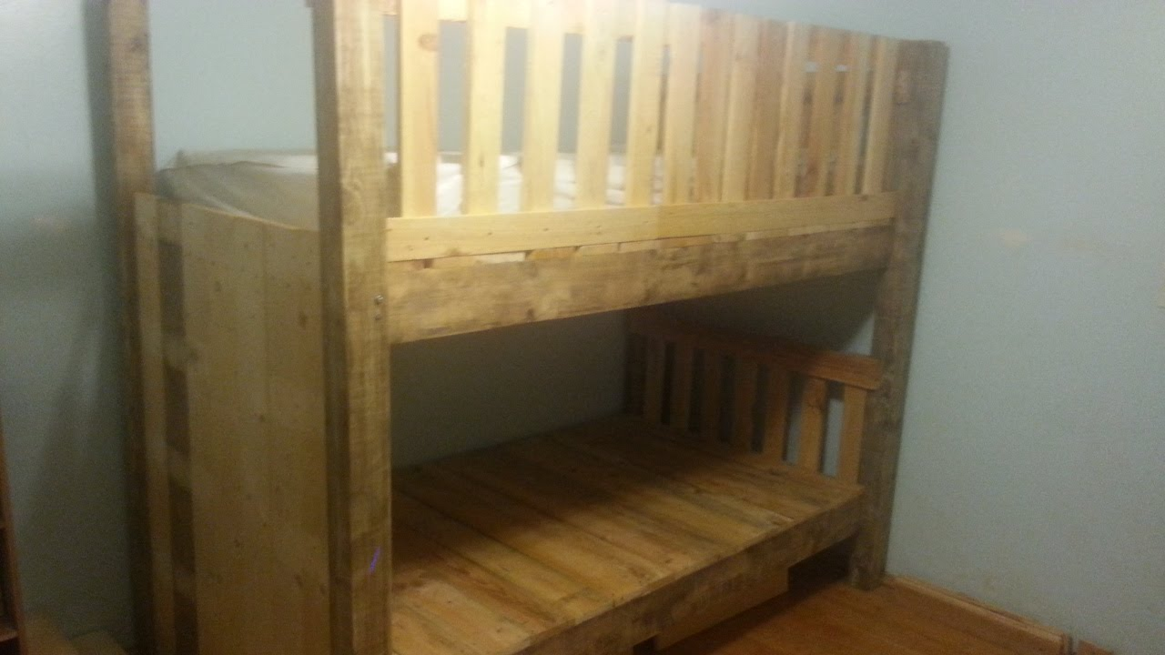 DIY Pallet Bunk Bed  YouTube