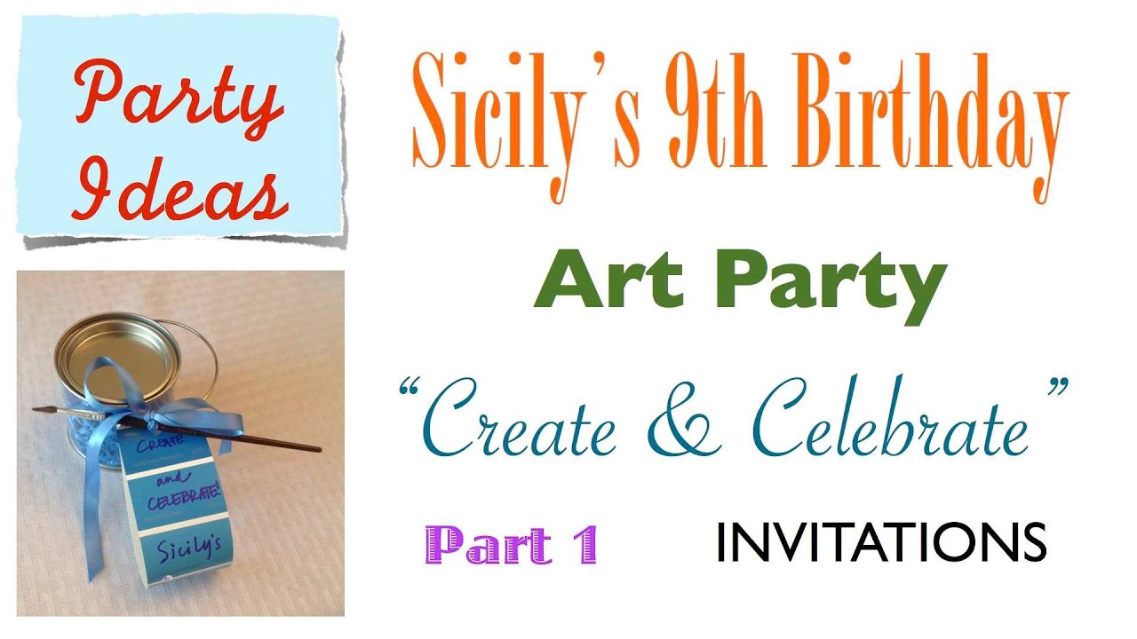 How To Make Cute Easy ART PARTY INVITES Your Guests Will Adore