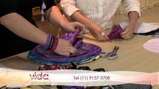 Artesanato: Porta-jóia de tecido (Drika Satkunas)