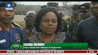 News Across Nigeria: Navy Adopts New Method Of Destroying Illegal Refineries